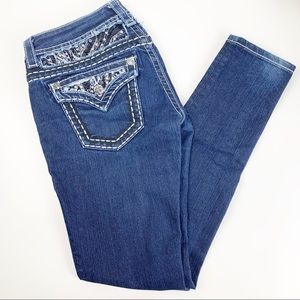 Miss Me Decorated back Skinny Jeans